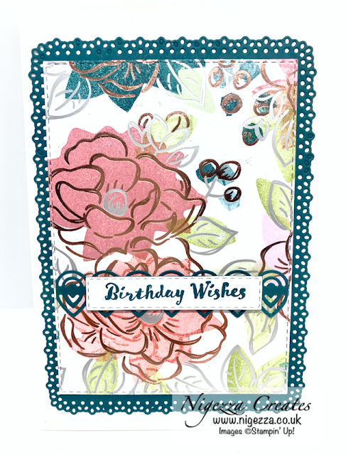 Nigezza Creates with Stampin' Up! & Flowering Foils & Ornate Layers Facebook Live