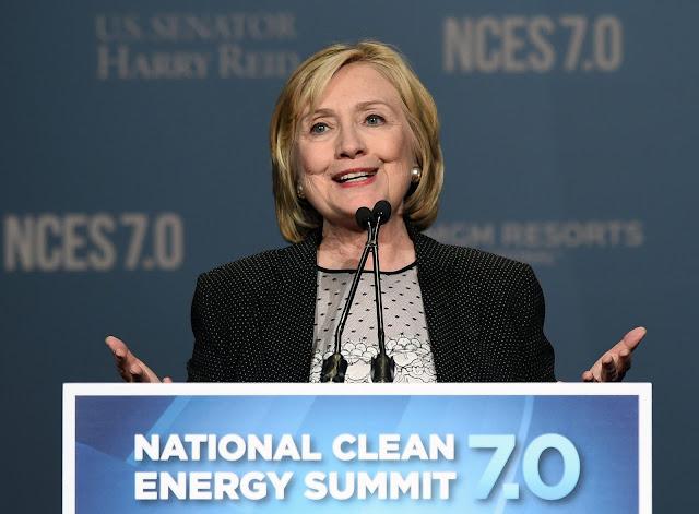 Bà Hillary Clinton tại Hội nghị Năng lượng sạch Quốc gia Hoa Kỳ 7.0 vào ngày 4/9/2014 ở Las Vegas. Hình ảnh: Ethan Miller/Getty Images.