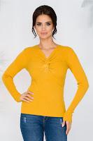 Bluza Rachel galbena tip tricot