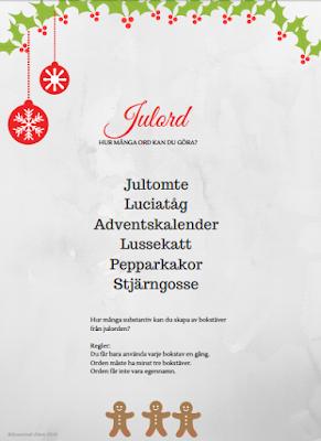 Länk till dokument med julordsuppgift för utskrift