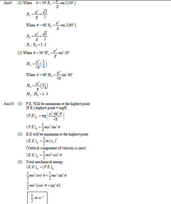 projectile motion,range,motion in a plane,iit,jee test paper,law of motion ,kinematics, Test paper,solved test paper,important questions for exam,class 11 physics