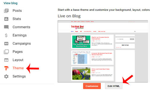 Blog ke Template Se Footer Credit Link Kaise Remove kare
