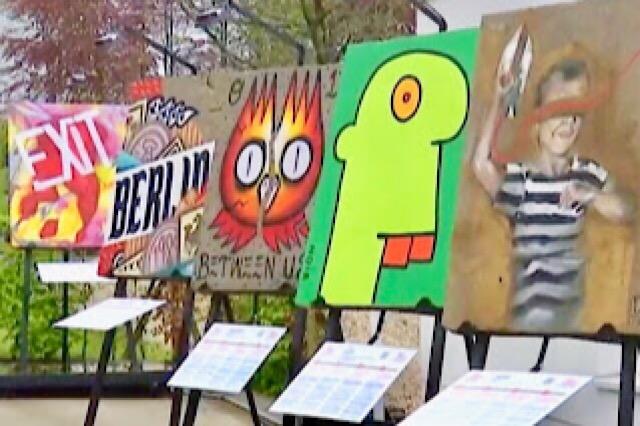 """"""" Photo de dessins en Street Art au Bastogne War Museum"""""""