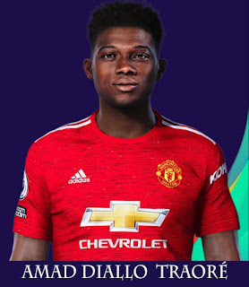 PES 2021 Faces Amad Diallo by Rachmad ABs