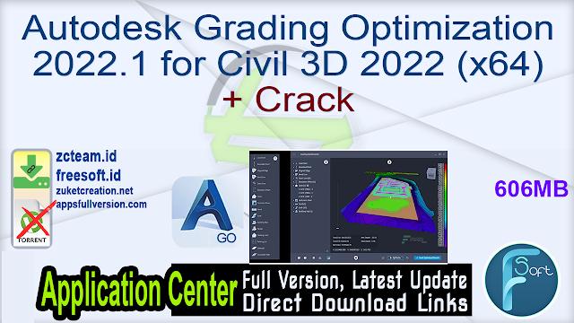 Autodesk Grading Optimization 2022.1 for Civil 3D 2022 (x64) + Crack_ ZcTeam.id