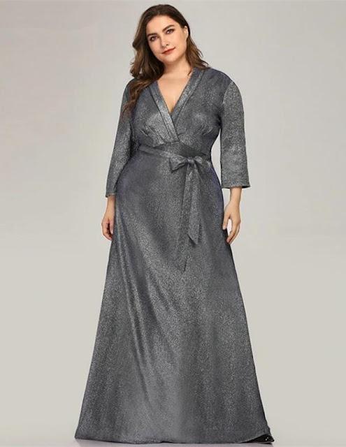 long plus size prom dress