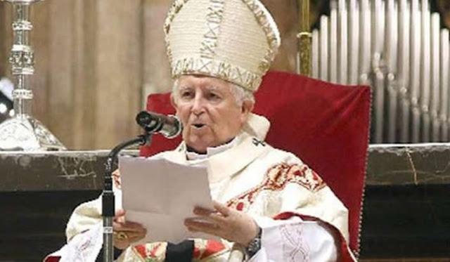 """El cardenal Cañizares afirma que la vacuna del coronavirus se elabora con """"células de fetos abortados"""""""