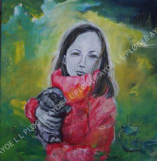Maleri,kunst,art,noget til vægen,glade farver,acryl,kanin,rabbit,børn,clean world,