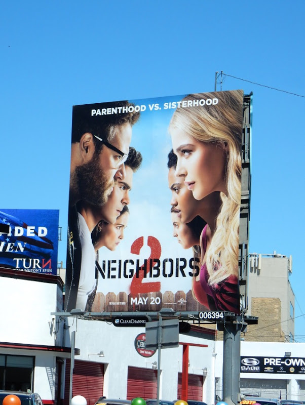 Neighbors 2 Sorority Rising movie billboard