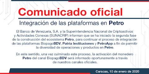 #13Ene2020 | #Petro | #BioPago Se extiende proceso de ajuste para retomar con más fuerza el sistema financiero del Petro! Fuerza financiera para el pueblo guerrero de Venezuela!