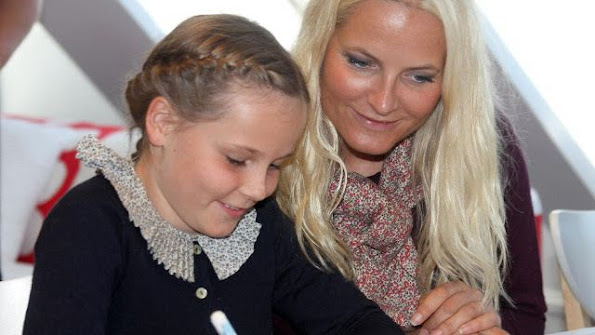 Prince Haakon, Princess Mette Marit and Princess Ingrid Alexandra attended opening of the new Environment House