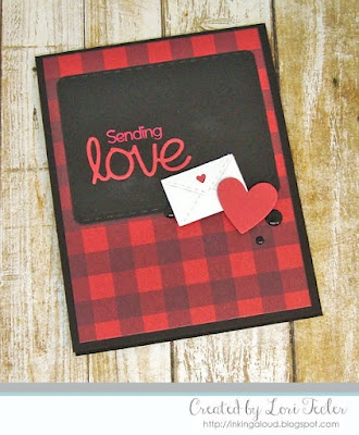 Sending Love card-designed by Lori Tecler/Inking Aloud-stamps and dies from SugarPea Designs