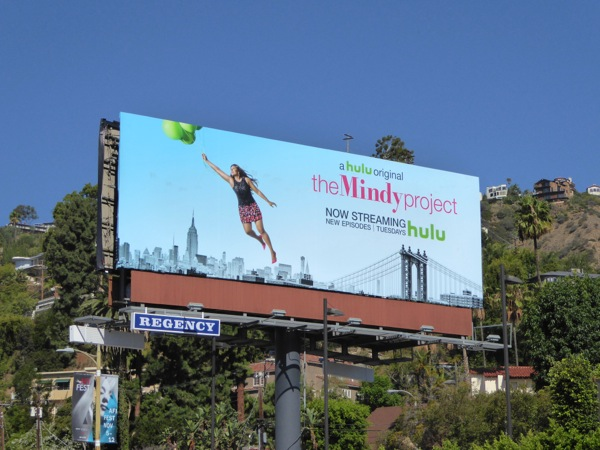 Mindy Project season 4 balloons billboard
