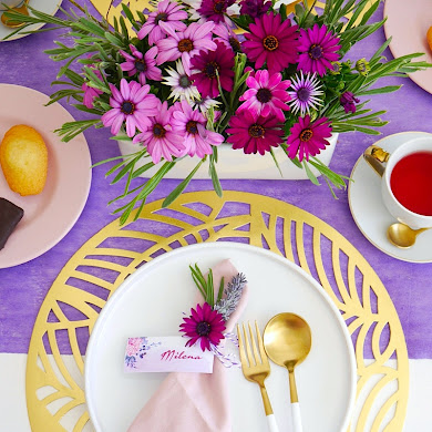 Une Thé Party et Décor de Table Lavande pour la Fête des Mères