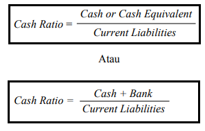 Rumus Cash Ratio (Rasio Kas)