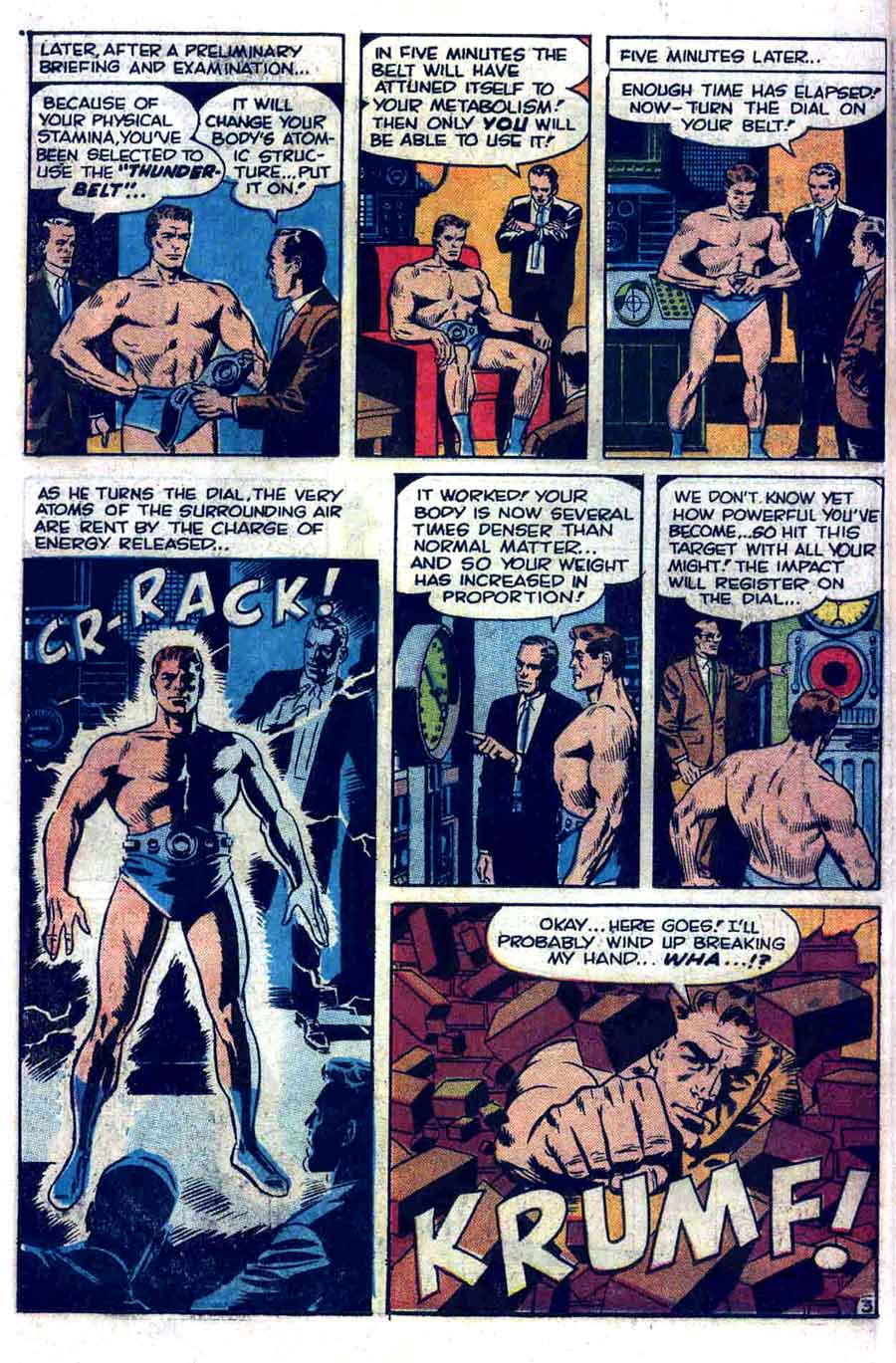 Thunder Agents v1 #1 tower comic book page art by Wally Wood