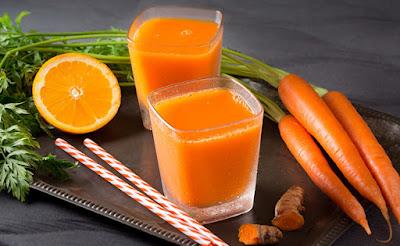 suco de cenoura e laranja beneficios