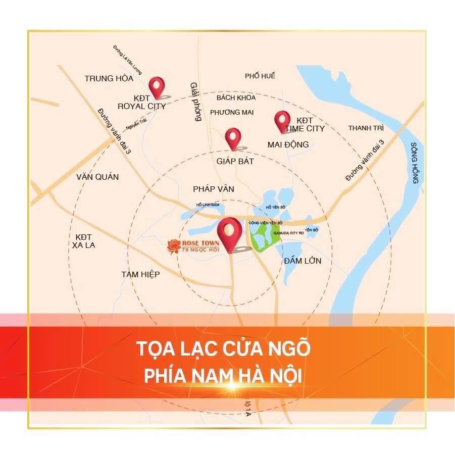 Maps Rose Town Ngọc Hồi