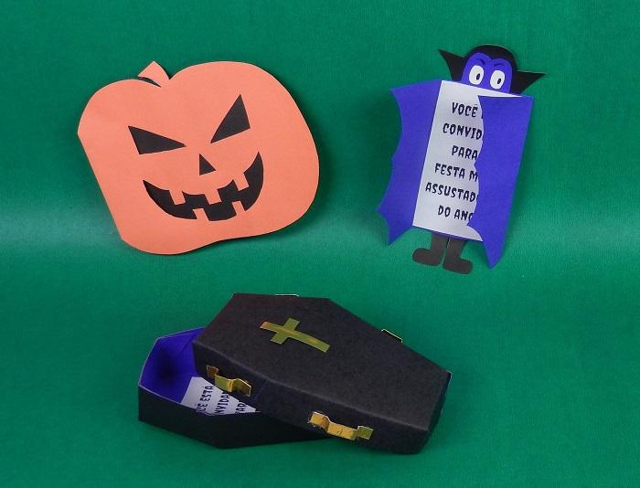 3 modelos de convite para festa de halloween