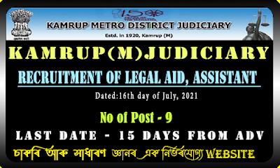 Kamrup(M) Judiciary Recruitment(9 Post)