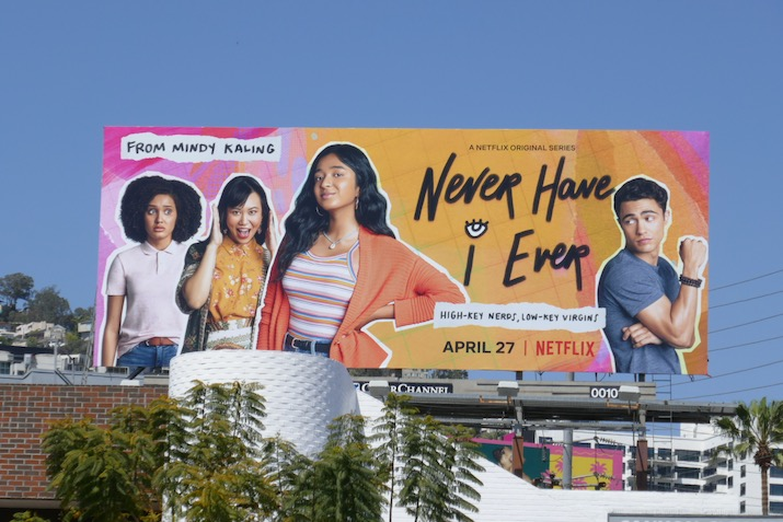 Never Have I Ever series premiere billboard