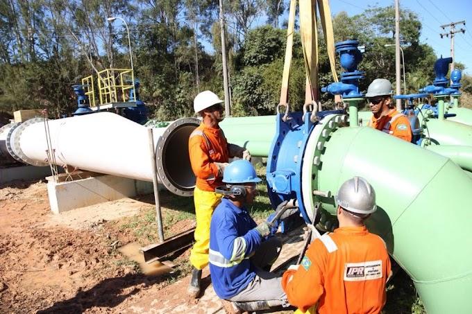 Prolagos interliga trechos da nova adutora ao sistema de abastecimento de água