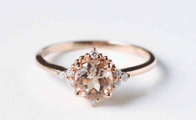 Non Diamond Engagement Rings Morganite