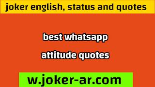 Attitude status 2021, Best Whatsapp Attitude quotes - joker english