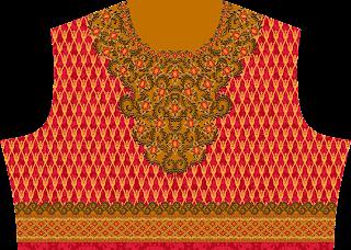 Traditional Print Lehenga Choli Design - Top Front 2744