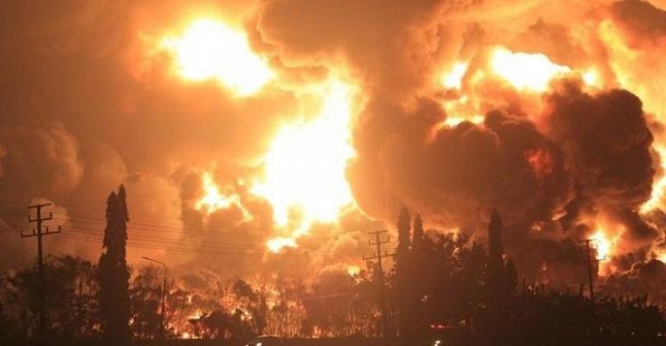 Ledakan di kilang pertamina