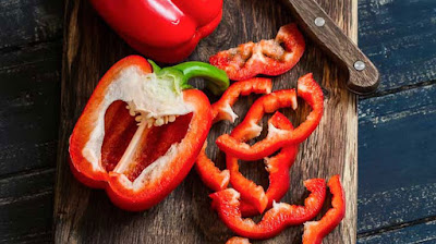 Red bell pepper for anti ageing, health benefits on bell pepper