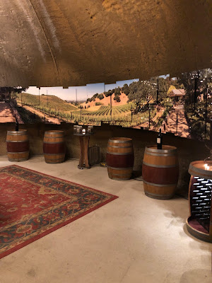 The cave at Porter Family Vineyards