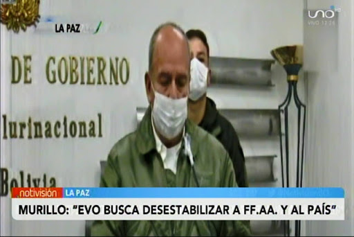 Murillo: Si Evo vuelve tendrá la oportunidad de que el Chapare vuelva a ser el paraíso de la droga y el narcotráfico