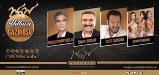 WOW İstanbul Hotel İstanbul Yılbaşı Programı 2020 Menüsü cengiz kurtoğlu yılbaşı konseri ümit besen yılbaşı konseri