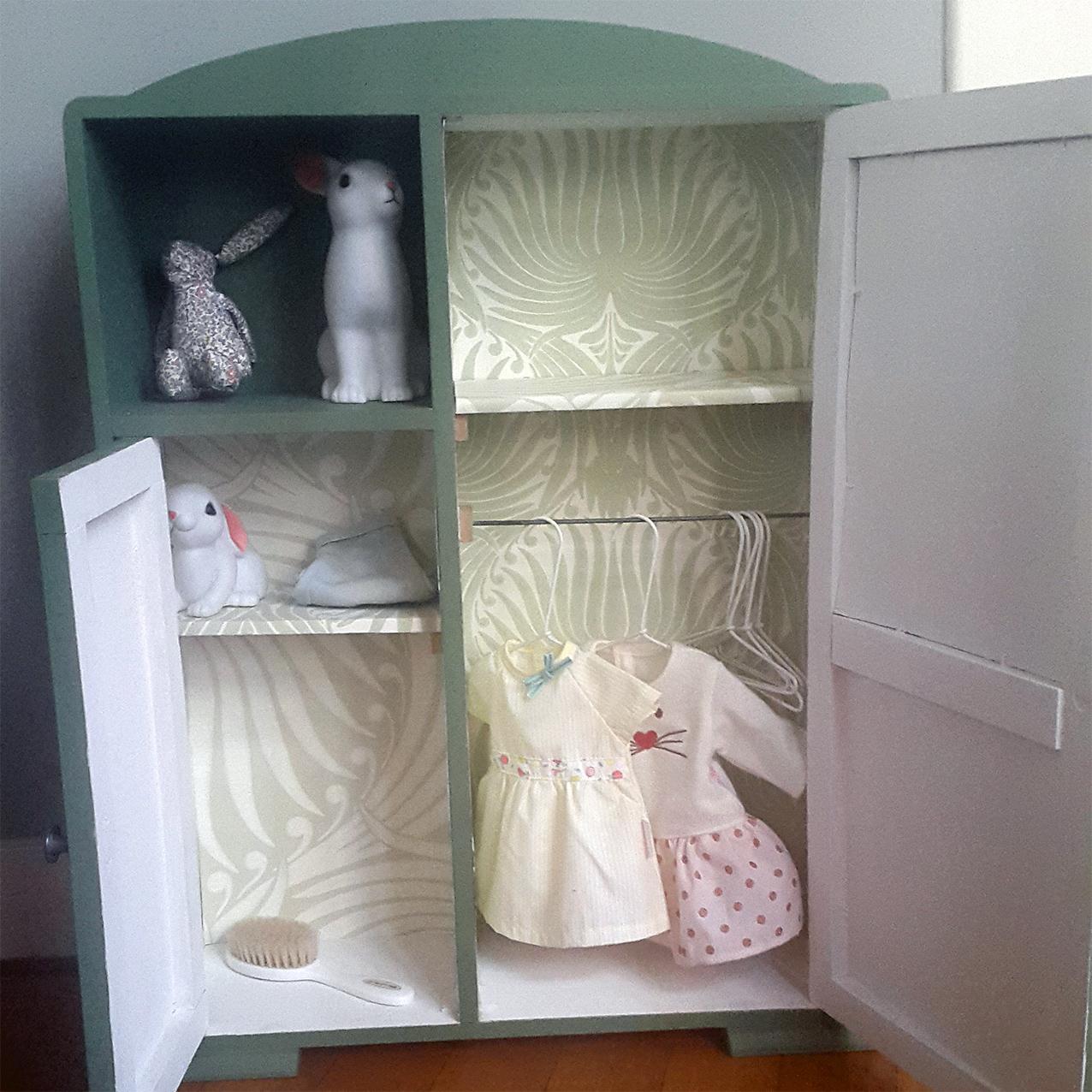 vintage, etsy, armoire de poupée, diy