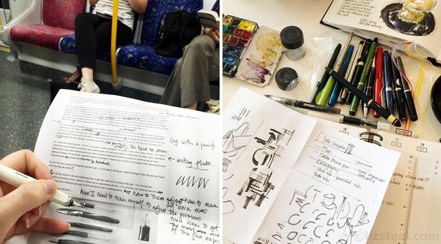 Fountain Pen Sketching: Behind the scenes - Liz Steel : Liz Steel