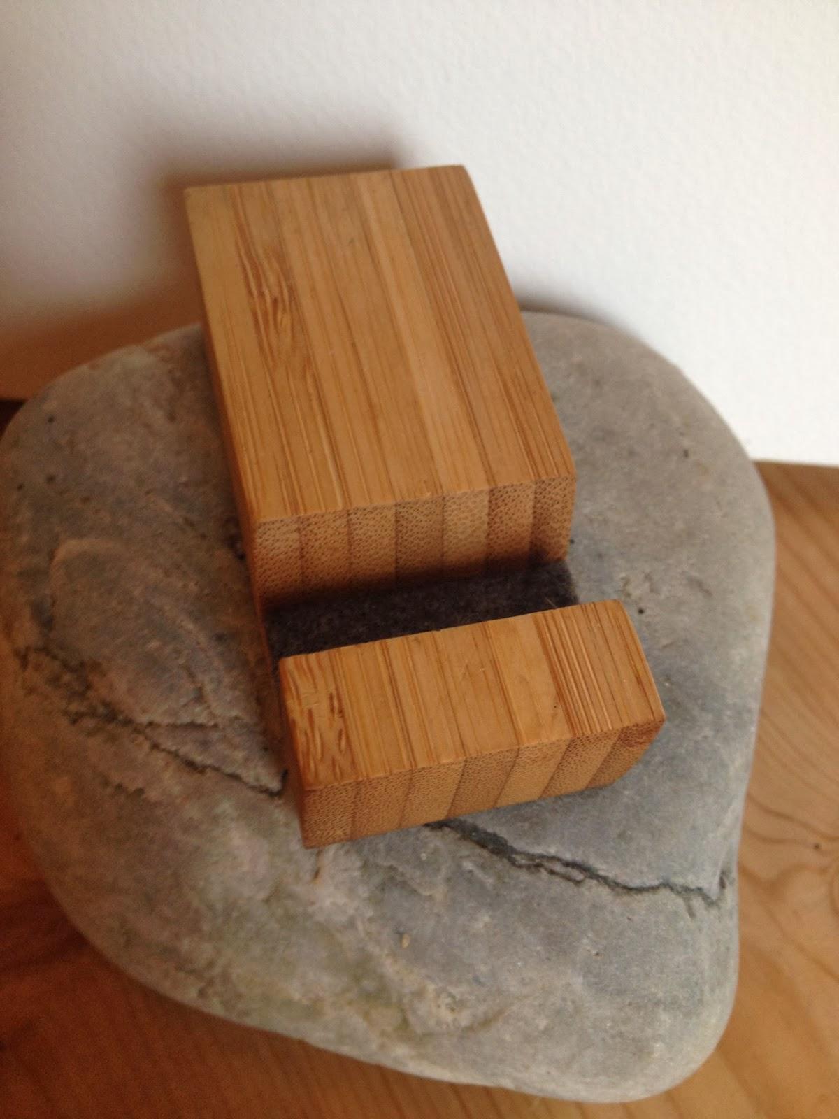 Bamboo iPhone holder