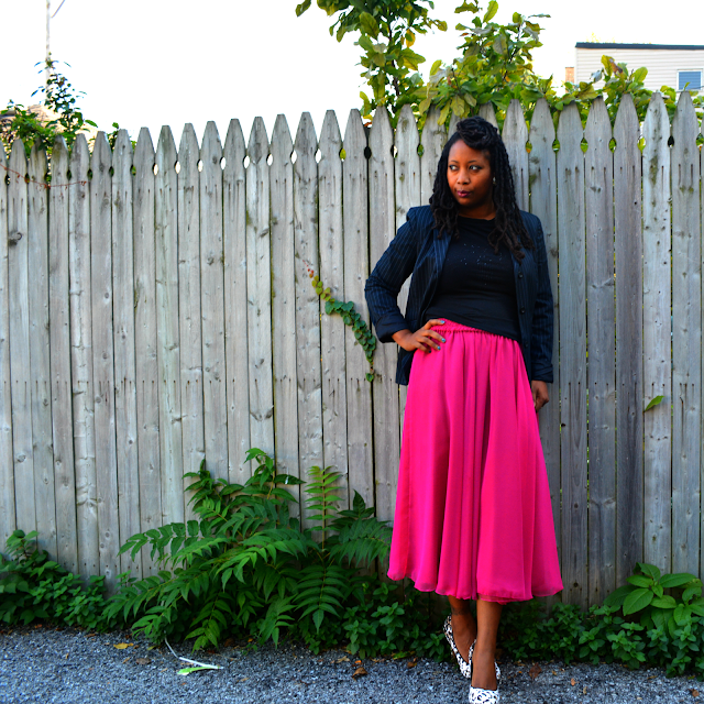 vintage chiffon pink skirt ideas