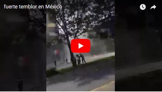 Potente terremoto en Ciudad de México llega a 7.1 grados - Caen edificios