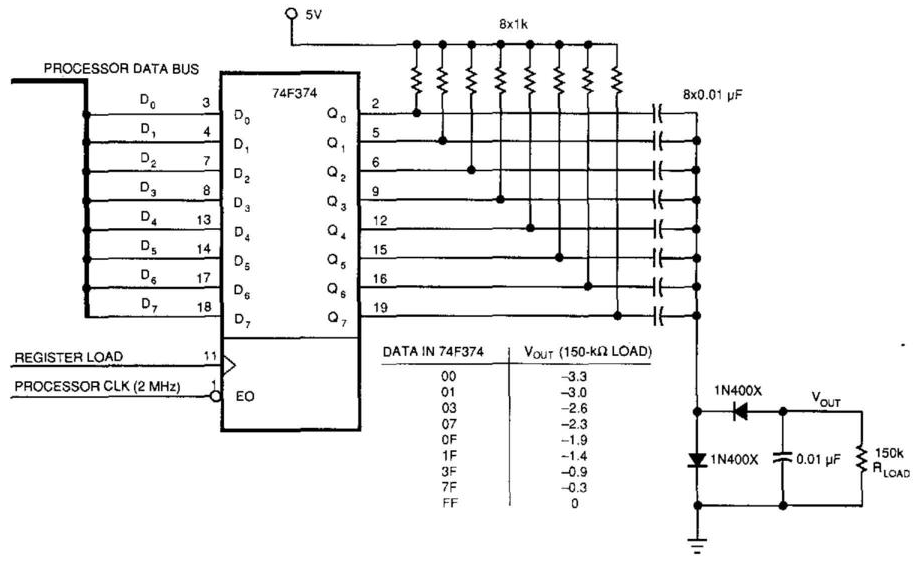 Simple Up-Controlled Negative Voltage Converter Circuit