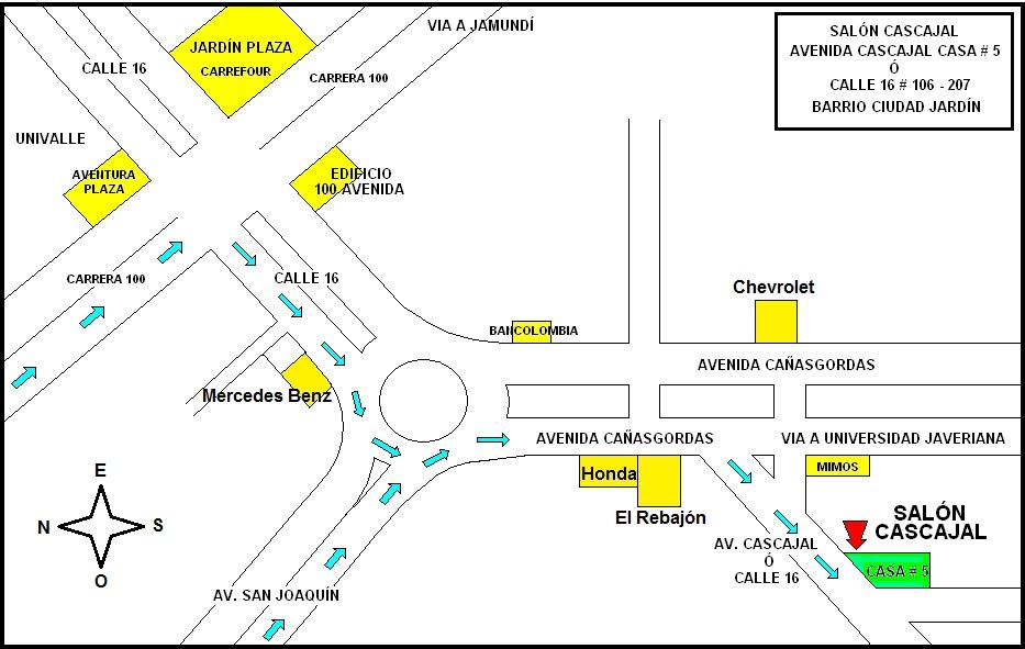 Localización De Una Casa En El Mapa: Casa # 5: UBICACIÓN