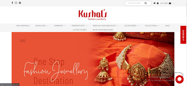 kushal's silver temple jewellery with price