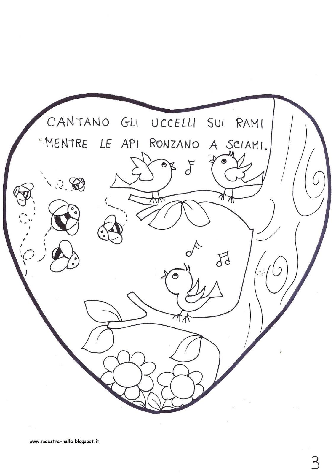 Disegni di primavera da colorare for Maestra valentina accoglienza