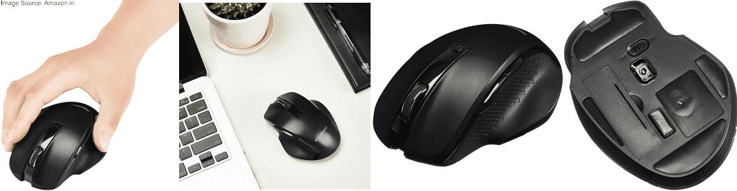 AmazonBasics Compact Ergonomic Wireless Mouse