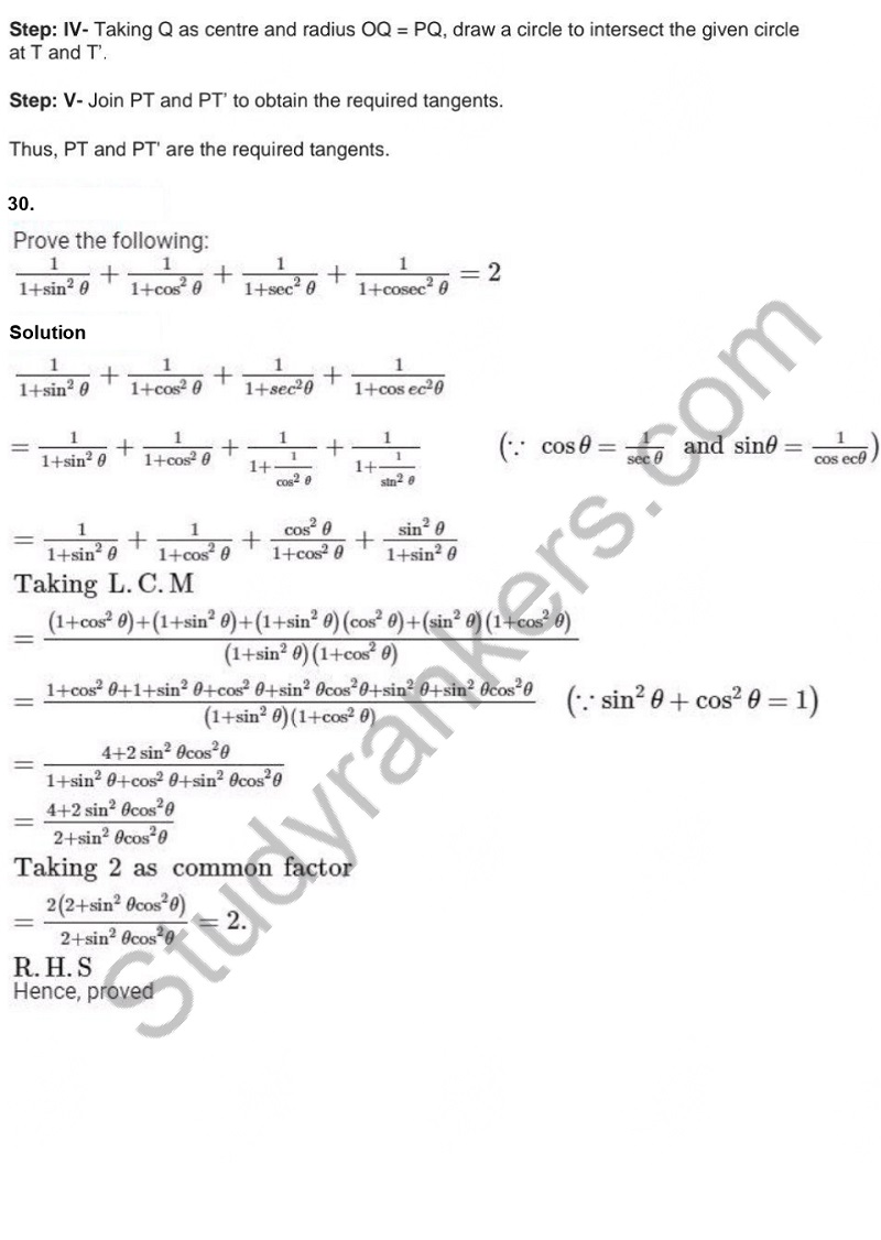 Previous Year Question Paper for CBSE Class 10 Maths 2019 Part 30