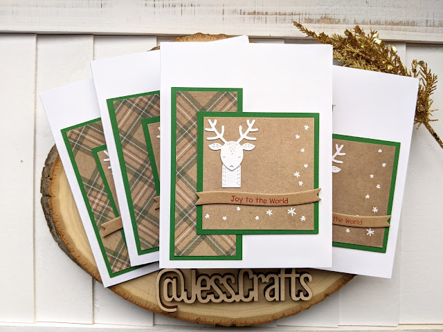 Christmas Card using Michael's Recollections Say Freeze for Jess Crafts Sketch 21