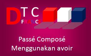 Bentuk Passé Composé menggunakan avoir dalam Bahasa Perancis