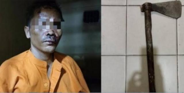 Sadis! Kesal Diminta Air, Pria di Rohul Riau Kampak Bayi 7 Bulan hingga Tewas
