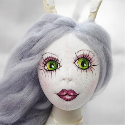 Arabella the Arctic Hare Art Doll