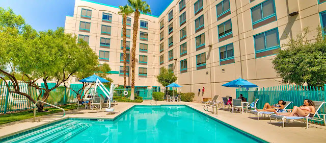 When looking for hotels near the Las Vegas airport look no further than the DoubleTree by Hilton Hotel Las Vegas Airport with omplimentary shuttle.